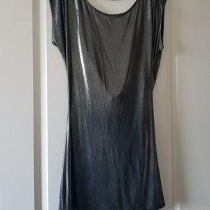 Low back Charcoal cowl back slinky dress